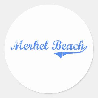 Merkel Beach Massachusetts Classic Design Classic Round Sticker