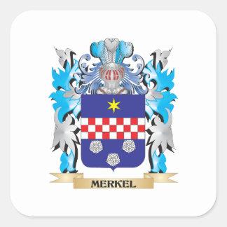 Merkel Coat of Arms - Family Crest Square Sticker