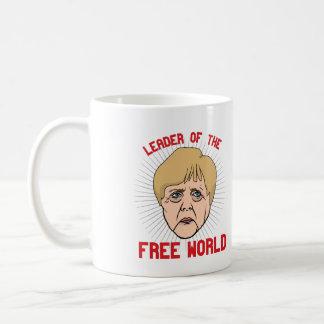 Merkel is leader of the Free World - -  Coffee Mug