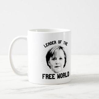 Merkel is leader of the Free World - - -  Coffee Mug