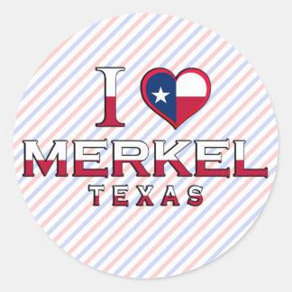 Merkel, Texas Classic Round Sticker
