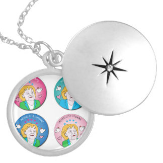 Merkelcita Plis Takes care of to me Round Locket Necklace