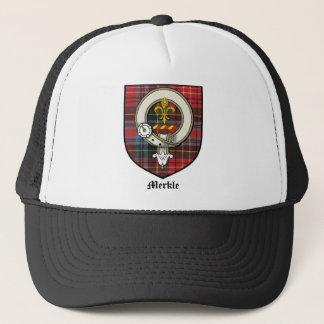 Merkle Clan Crest Badge Tartan Trucker Hat