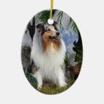 Merle azul del perro del collie, ornamento colgant ornamentos de reyes magos
