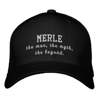 Merle el hombre, el mito, la leyenda gorras de beisbol bordadas