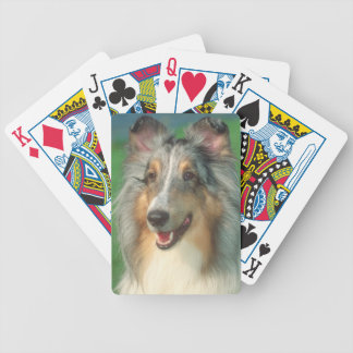 Merle Rough Coat Collie Dog Playing Cards