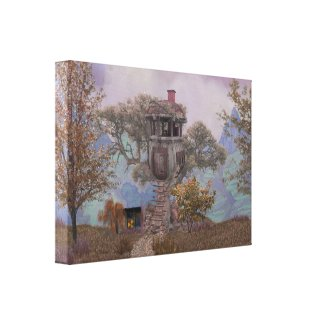 Merle's Treehouse Canvas Print