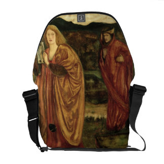 Merlin and Nimue from 'Morte d'Arthur', 1861 Courier Bag
