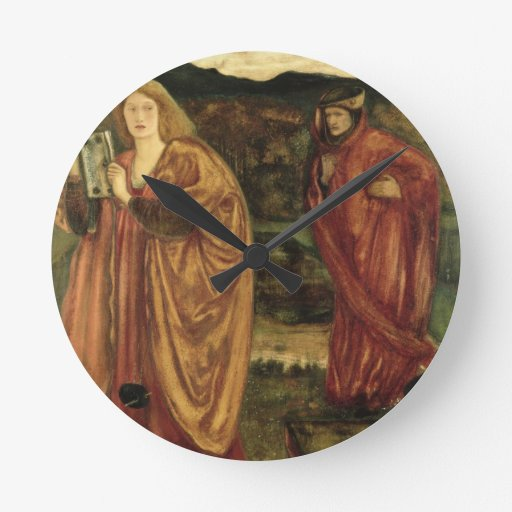 Merlin and Nimue from 'Morte d'Arthur', 1861 Round Clock