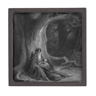 Merlin and Vivien by Gustave Doré 1868 Jewelry Box