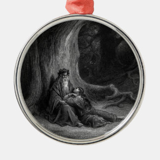 Merlin and Vivien by Gustave Doré 1868 Metal Ornament