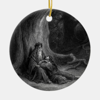 Merlin and Vivien by Gustave Doré 1868 Ornament