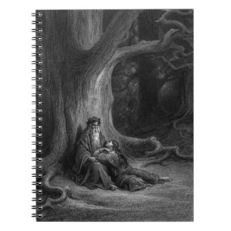 Merlin and Vivien by Gustave Doré 1868 Spiral Notebook