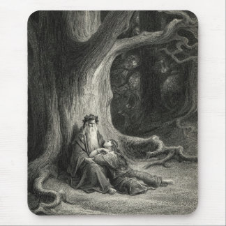 Merlin and Vivien Mouse Pad