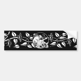 Merlin Art Nouveau fantasy Bumper Sticker