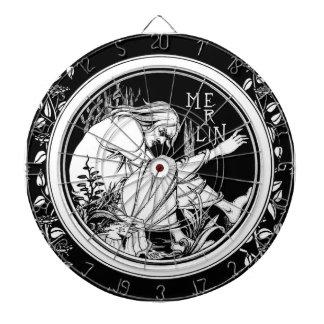 Merlin Art Nouveau fantasy Dart Boards