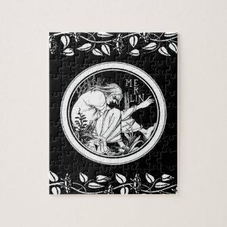 Merlin Art Nouveau fantasy Jigsaw Puzzle