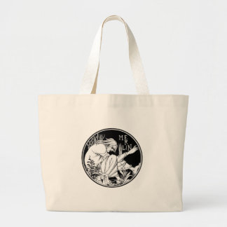 Merlin Art Nouveau fantasy Large Tote Bag