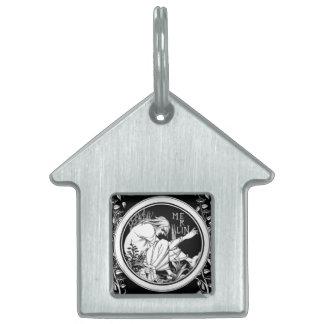 Merlin Art Nouveau fantasy Pet ID Tags