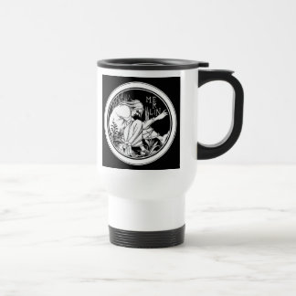 Merlin Art Nouveau fantasy Travel Mug
