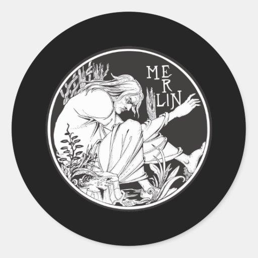 Merlin Aubrey Beardsley Stickers