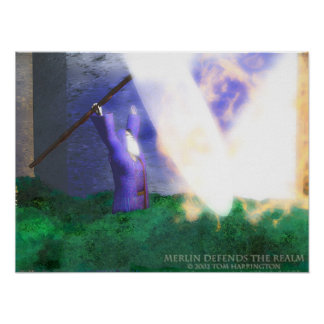 Merlin Defends the Realm Poster