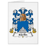 Merlin Family Crest Greeting Card