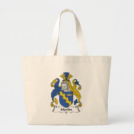 Merlin Family Crest Jumbo Tote Bag
