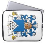 Merlin Family Crest Laptop Sleeve