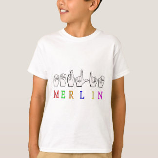 MERLIN FINGERSPELLED ASL NAME SIGN T-Shirt