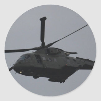 Merlin Helicopter from RAF Benson, United Kingdom Classic Round Sticker