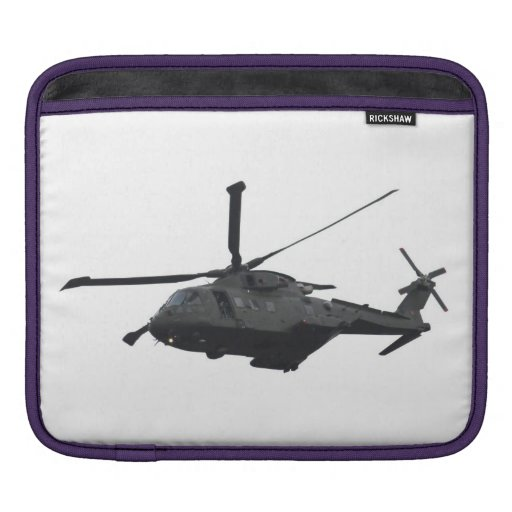 Merlin Helicopter iPad Case Sleeves For iPads