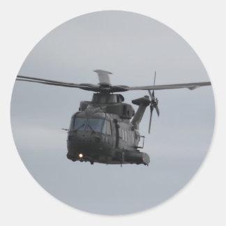 Merlin Helicopter, RAF Benson Classic Round Sticker