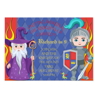 Merlin & Knights of the Round Table Camelot Invite