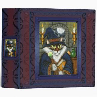 Merlin Magician Wizard Cat Magic Sorcerer 2 Binder