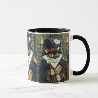 Merlin Magician Wizard Cat Magic Sorcerer Art Mug