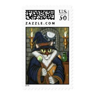Merlin Magician Wizard Cat Magic Sorcerer Postage