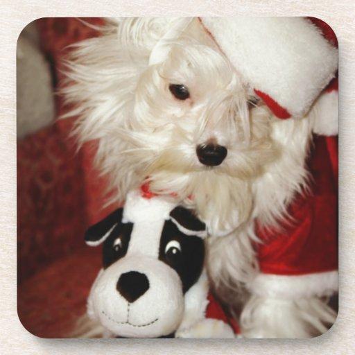 """Merlin Meets """"Santa and his Reindeer"""" Drink Coasters"""