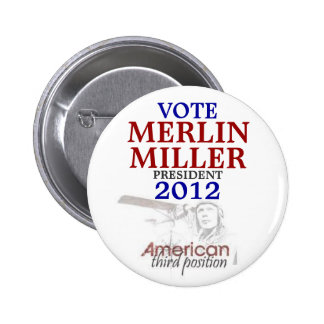 MERLIN Miller 2012 Pin Redondo De 2 Pulgadas