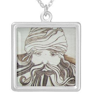 Merlin Square Pendant Necklace