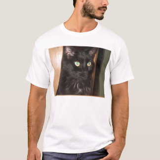 Merlin the Black Cat  T-Shirt