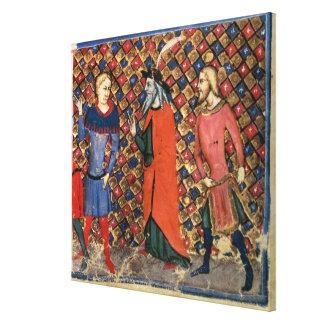 Merlin tutoring Arthur Canvas Print