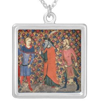 Merlin tutoring Arthur Square Pendant Necklace