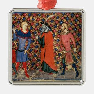 Merlin tutoring Arthur Christmas Ornaments