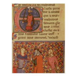 Merlin tutoring Arthur Postcard