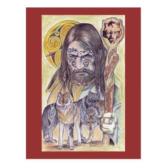Merlin Wizard Postcard
