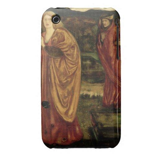 """MERLIN y Nimue del """"d'Arthur de Morte"""", 1861 iPhone 3 Case-Mate Carcasas"""