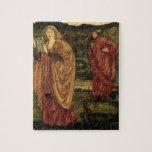 """MERLIN y Nimue del """"d'Arthur de Morte"""", 1861 Puzzles"""