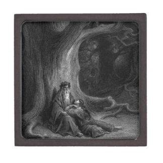 MERLIN y Vivien de Gustave Doré 1868 Caja De Recuerdo De Calidad