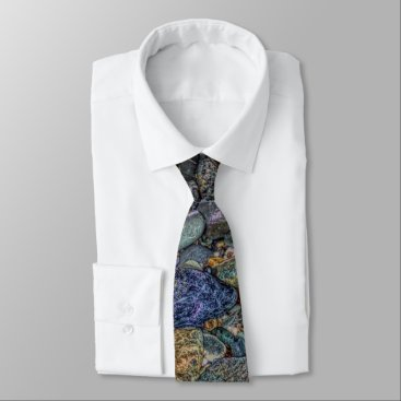 Beach Themed Merlin's cave pebbles tie